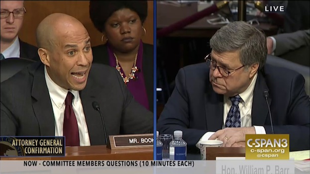 "ALWAYS DOWN FOR SHOW AND TELL BUT WHAT DOES IT DO? RACIST SUSPECT Barr was an architect of many policies that have since led to the disproportionate incarceration of African Americans. DURING SENATE CONFIRMATION HEARINGS    CORY Booker repeatedly    pointed out this discrepancy, and ultimately pressed Barr  to commit to a study  on these disparities. IN OTHER WORDS LIKE MOST RACISTS BARR BELIEVES BLACK PEOPLE ARE INFERIOR TO WHITES AND    PRONE TO CRIMINALITY.    he believes crime is evidence of biological difference. as a believer in the concept of ""race"", which has no scientific validity  and is better translated to mean organization. The sole purpose of WHICH is to maintain white domination and world control of non-whites,  HE IS A RACIST.    AS EXPLAINED BY DR. AMOS WILSON, ""Black criminals function as a negative reference group vital to maintaining the White American self-image. Alleged Black criminality, while evoking White American fear and loathing, reassures them of their vaunted self-worth, their assumed innately superior moral standing, of their self-congratulatory self-constraint in contrast with presumed Black American unworthiness, innate inferior moral standing, inherent criminality, lack of self-constraint and self-control. [   MORE   ]    COMMIT TO A STUDY? AS EXPLAINED BY DOC BLYND WE ARE ALWAYS OFFERED THE IMAGE AND NEVER THE REALITY IN    THE SPECTACLE SOCIETY."