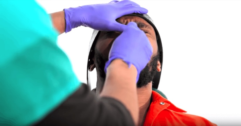 IN PHOTO Yasiin Bey (aka the mighty    Mos Def) volunteered to undergo    the standard operating procedures for force-feeding TO illustrate HOW FOUL THE PROCEDURE WAS WHEN IT WAS USED on detainees at    guantanamo    Bay detention facility. MOS DEF WONT BE PERFORMING AT THE SUPER BOWL THIS YEAR.
