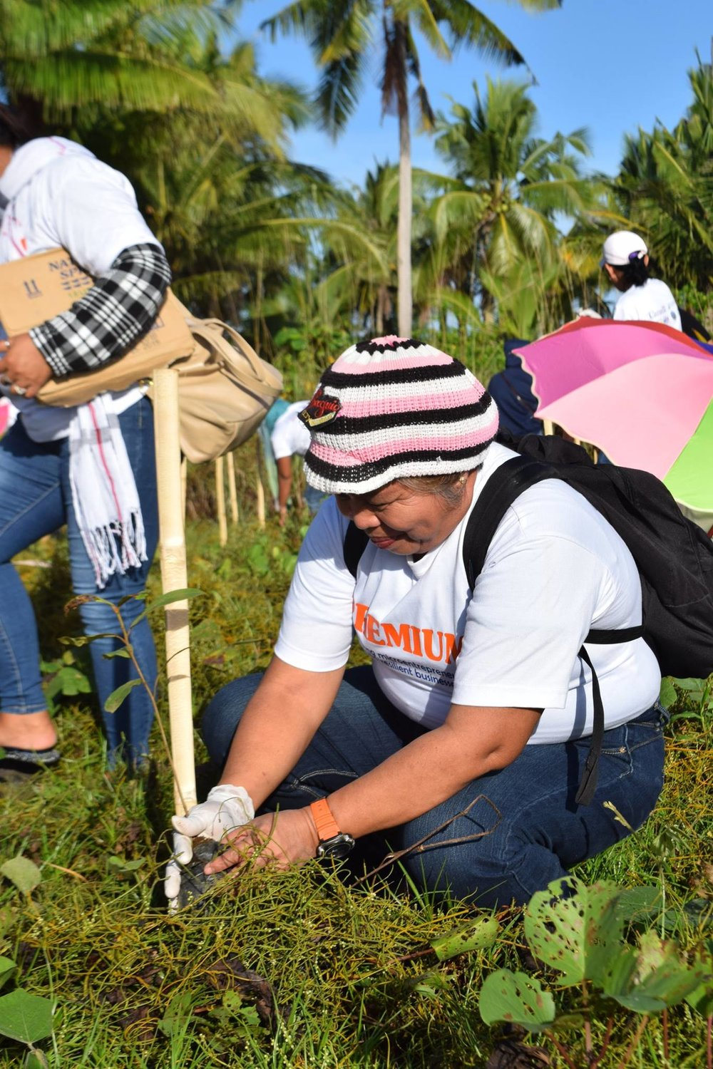 Each Hapinoy negosyante was given a seedling to plant at Brgy. Opong's coastal area.