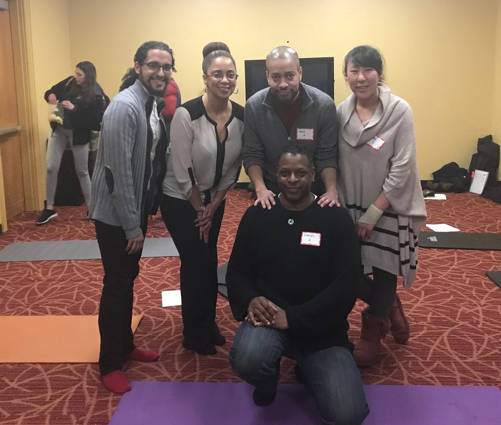 Ambient Noise founder Darryl Aiken-Afam w/ Ambient Noise facilitators Dr. Kevin Gillette, Eric Santiago, & Suzie Choi, along with Dr. LaTisha Forster after C&C 1.0 at Rutgers University. We are a team dedicated to authentic diversity!