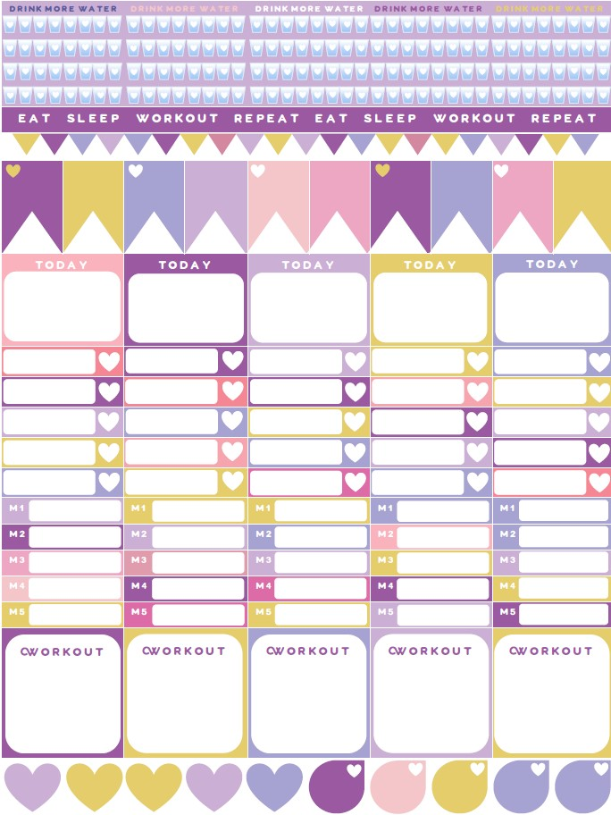 image regarding Free Planner Sticker Printables identify No cost Planner Sticker Printables - Throwback in the direction of 2015