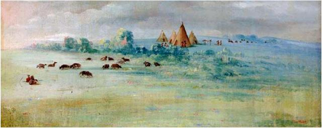 George-Catlin-painting-of-Cloud-Man-Village.-Minnesota-Historical-Society-image-courtesy-of-Minneapolis-Park-and-Recreation-Board.jpg