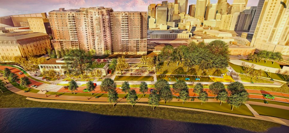 Drawings for Fuji Ya site and downtown riverfront