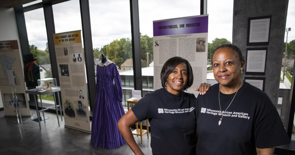 Tina Burnside and Coventry Cowens in the new MAAHMG Photo credit: Star Tribune