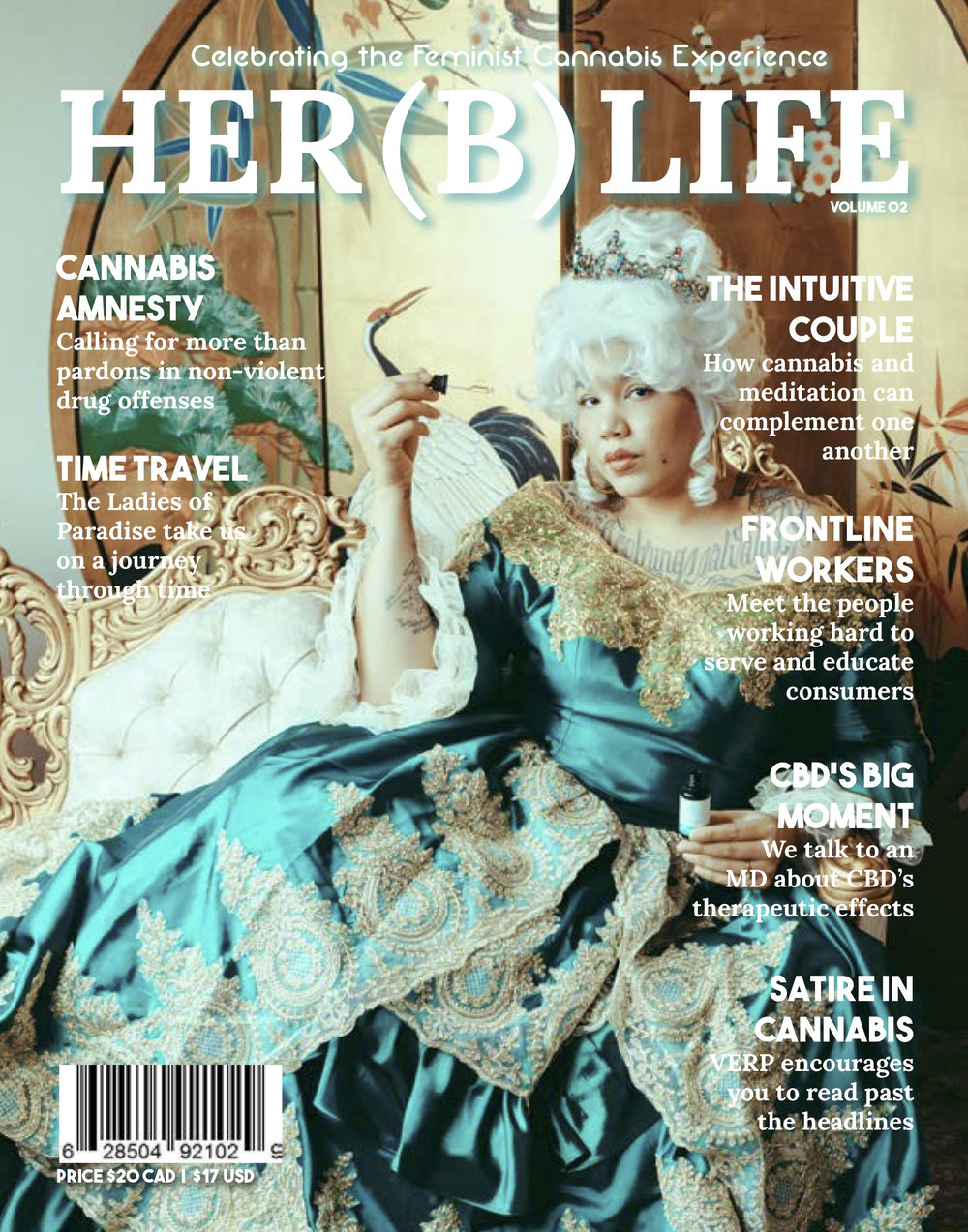 The Her(B) LifeVol. 02 - This issue explores topics such as the origin of the 420 movement, frontline workers in the cannabis space, amnesty for non-violent cannabis offenses, landrace strains and how meditation and cannabis compliment one another.We embark on a photographic time travel journey to delve into the many ways cannabis has been used over the course of history starting in ancient China and finishing up in modern day North America where legalization is gaining momentum.