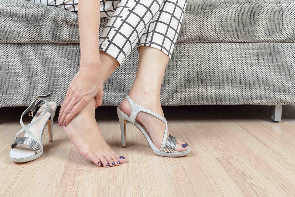 Heel Pain - Plantar fasciitis, a painful inflammation of the fibrous connective tissue on the base of the foot, and heel spurs, calcium deposits that present as a bony protrusion on the underside of the heel commonly cause pain.