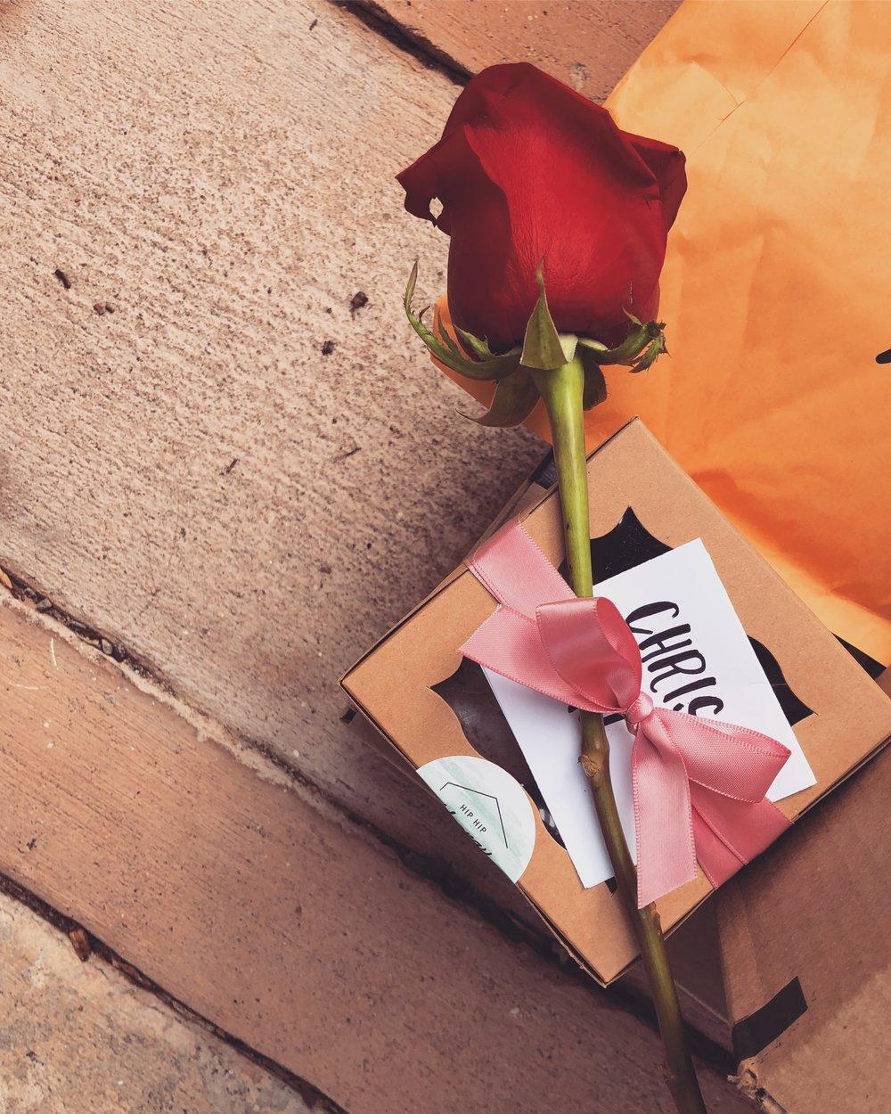 Valentine's Day Grams - Valentine's Hip Hip Hooray dot Love