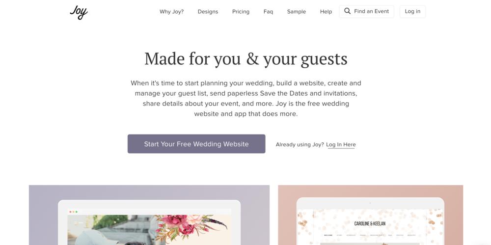 With Joy Wedding Website
