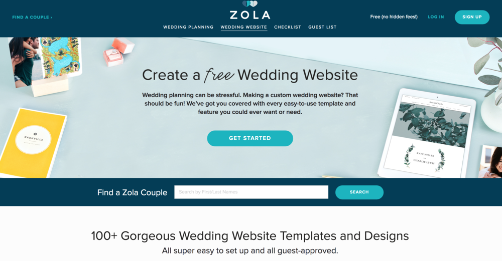 Zola Wedding Website