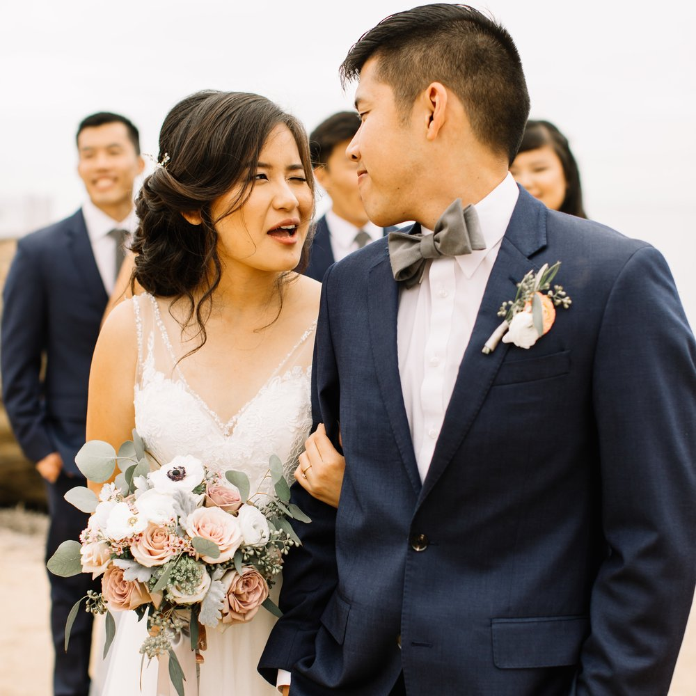 Derek & Vung - Wedding Florals - Floral Design - Ashley Hur - Hip Hip Hooray Dot Love