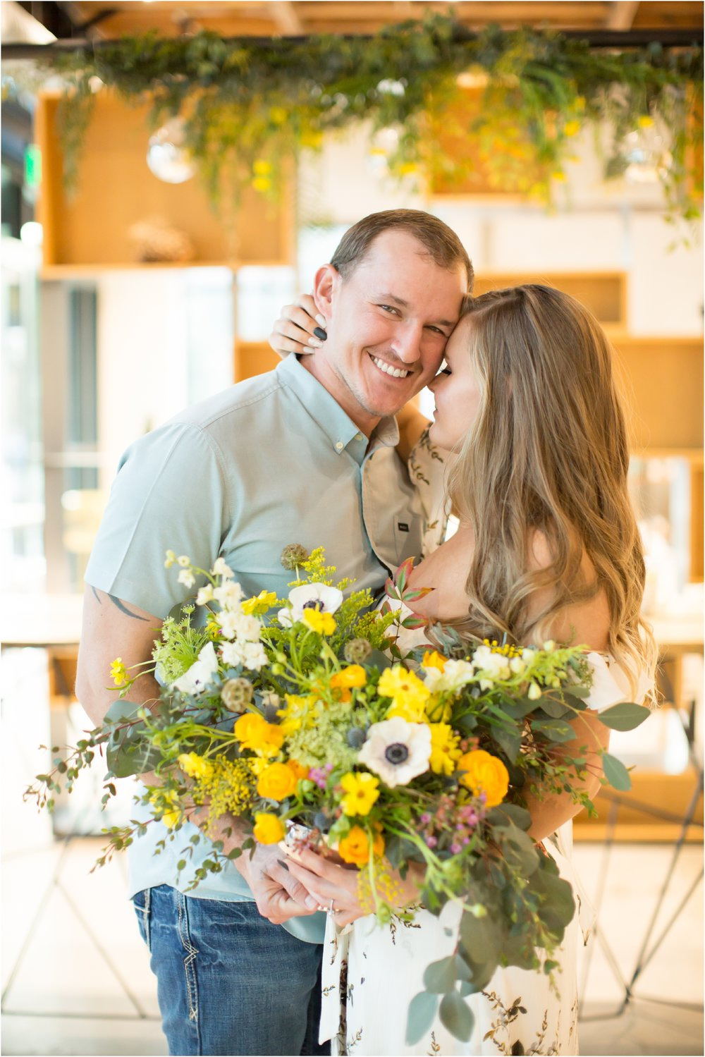 John + Kelcie - Wedding Florals - Floral Design - Ashley Hur - Hip Hip Hooray Dot Love