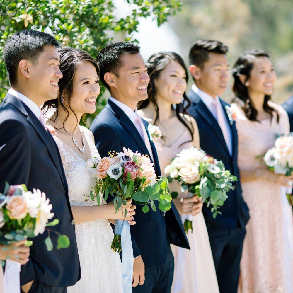 Brandon + Connie - Wedding Florals - Floral Design - Ashley Hur - Hip Hip Hooray Dot Love