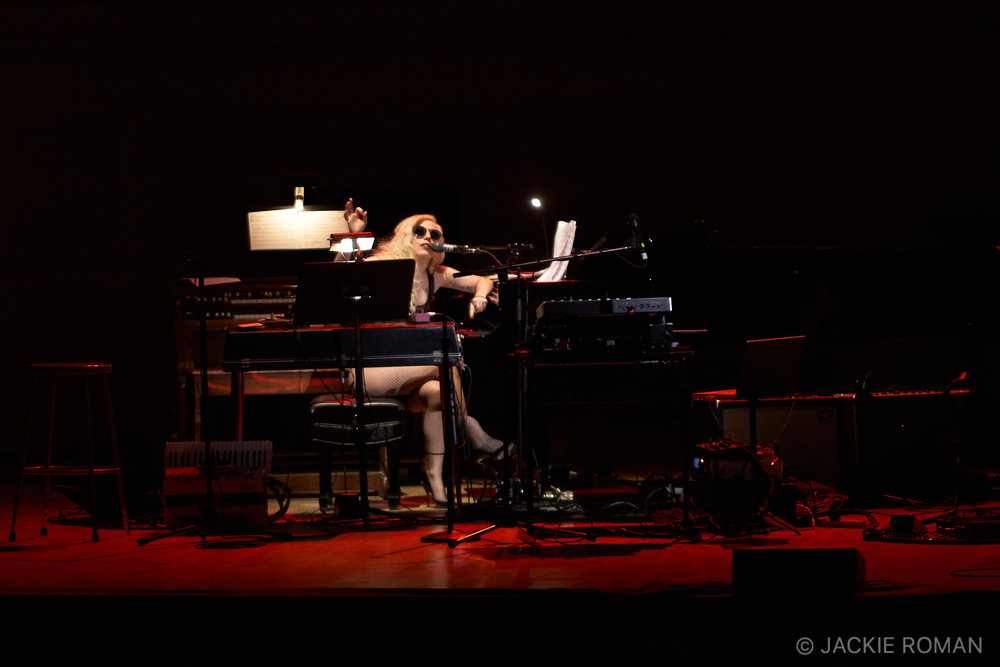 Lady Gaga performing at the Gavin Friday Benefit,  Carnegie Hall, New York, October 3rd, 2009.