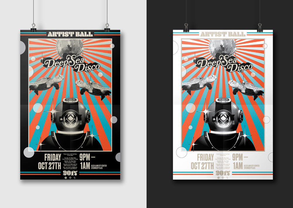 "Posters for the event; 24"" x 36"""