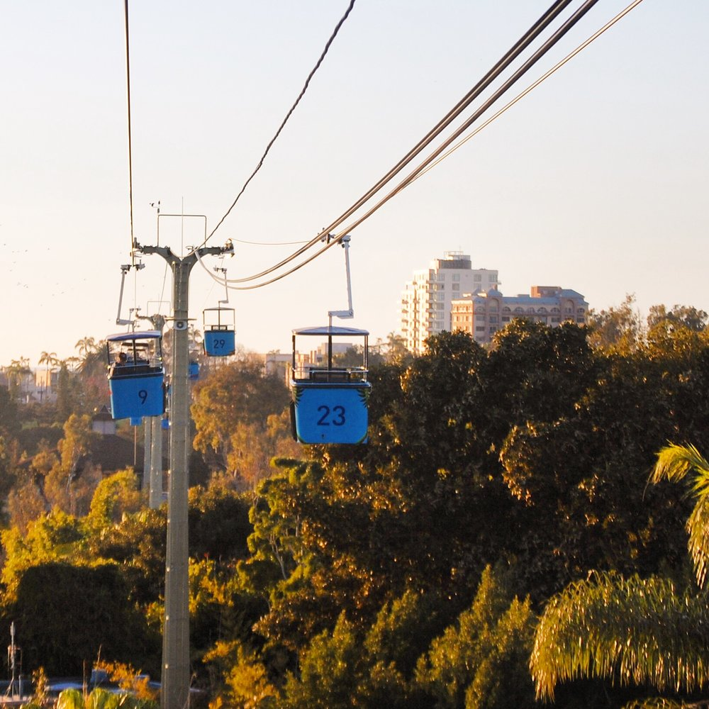 6. Skyride - Why walk across the zoo when you can fly? And it's free. The skyride will take you from the park entrance to the polar bear area, which is directly across the zoo. Traveler Tip: If you are here all day, take the skyride around sunset time and you will get stunning views of Balboa Park with the sun setting.
