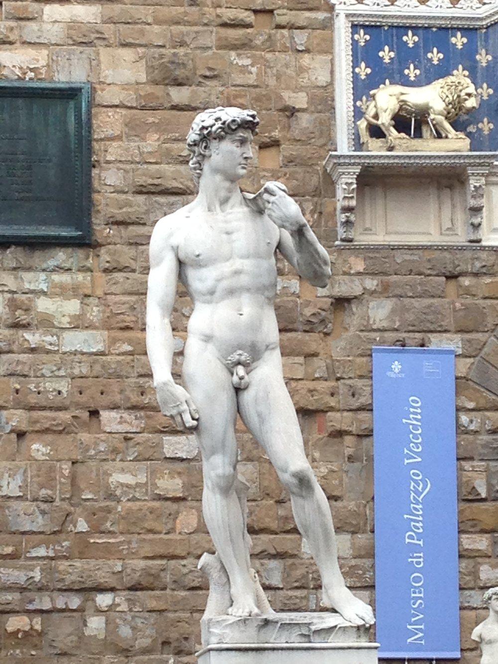 Replica David statue