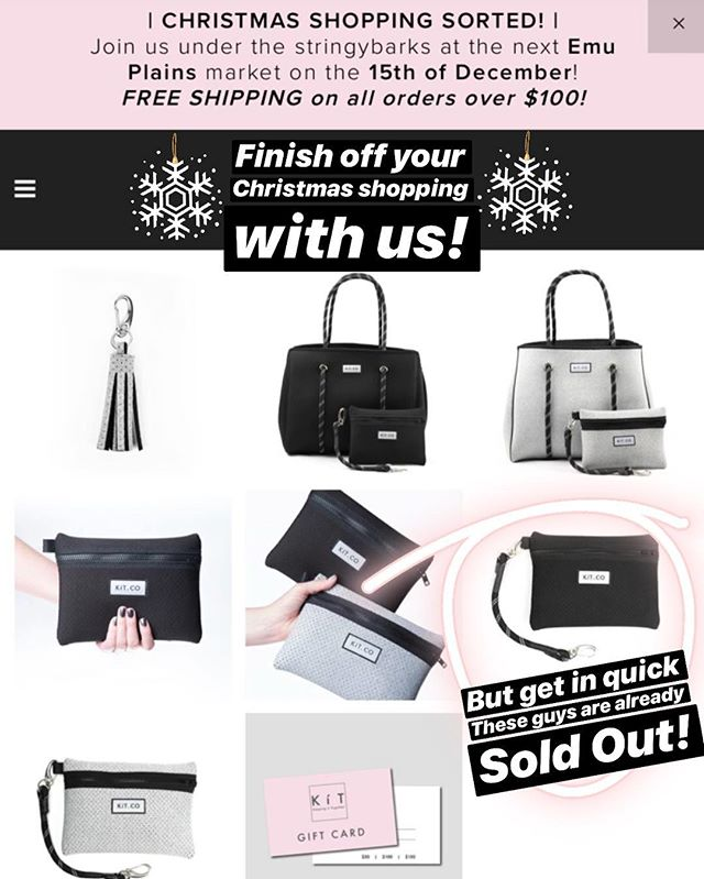 👉🏻online update!👈🏻 • Only very few Black Tote Sets left!🙀 • Mini Clutches in Black are Sold Out!🙀 • Mini Pouches have been added but only a limited number left! (The friend of the Mini Clutch without the rope attachment) Super handy and a great stocking filler gifts!🎁 Tap to Shop!👆🏻 . . . #christmas #giftsforher #giftsforfriends #christmasgifts #seeyouunderthestringybarks #underthestringybarks #market #makersmarket #marketlife #treatyourself #myKíT #KíTaccessories #keepittogether #lifestyleaccessories #mornington #morningtonpeninsula #onlinestore #neoprene #sportsluxe #veganaccessories #emuplainsmarket #supportsmallbusiness #supportlocal