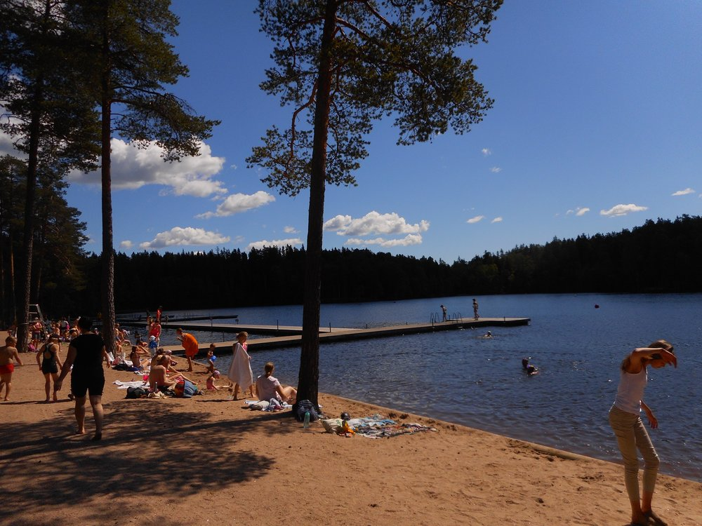 Best beach in Helsinki and beautiful summer day