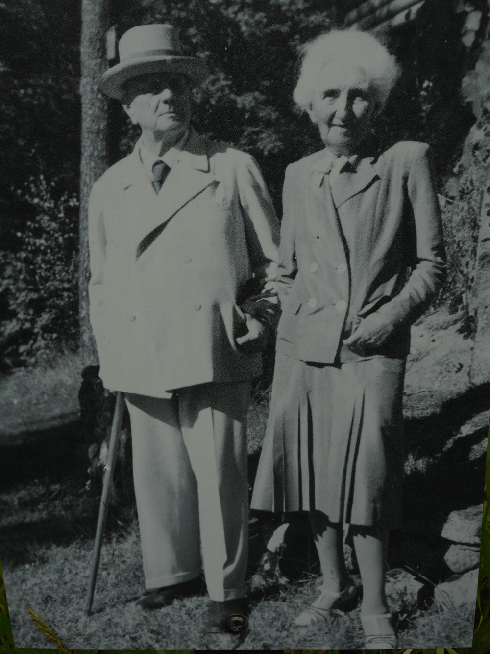 Jean Sibelius and his wife old photo
