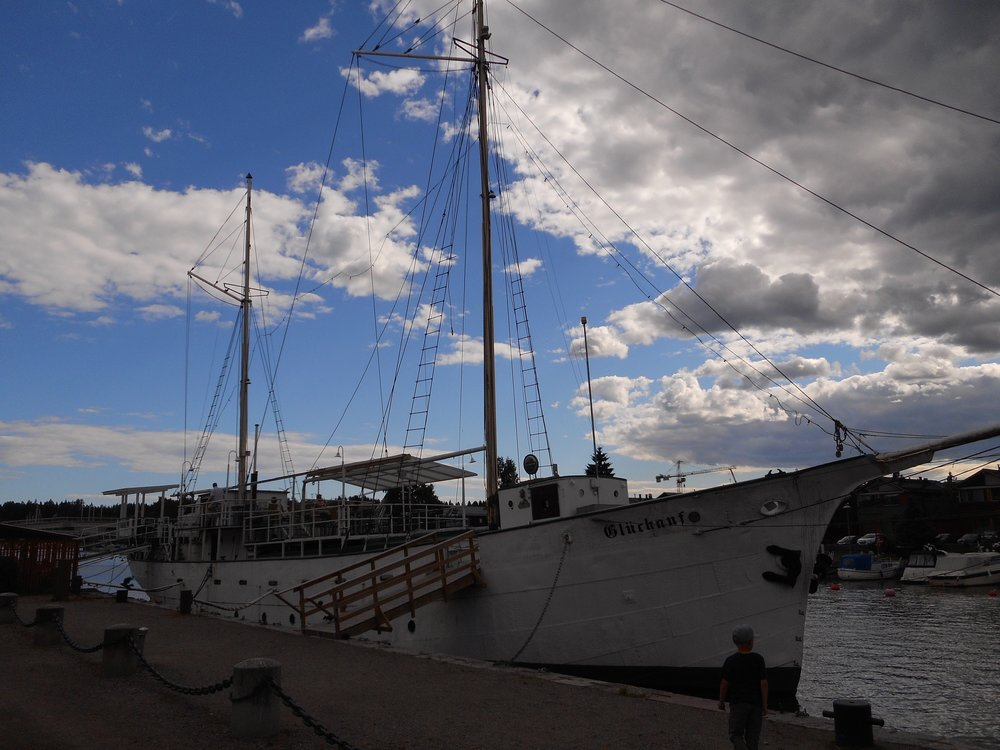 Old sailing ship in Porvoo harbour