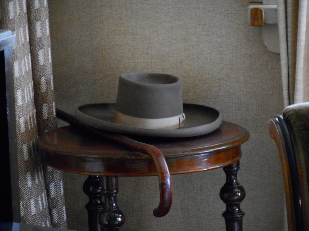 hat and walking stick of Jean Sibelius Ainola Sibelius museum
