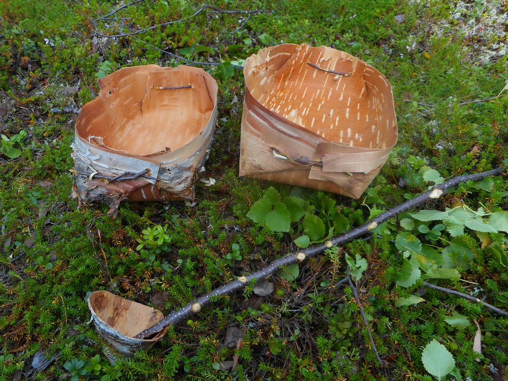 wooden handcraft old survival skills in Finland