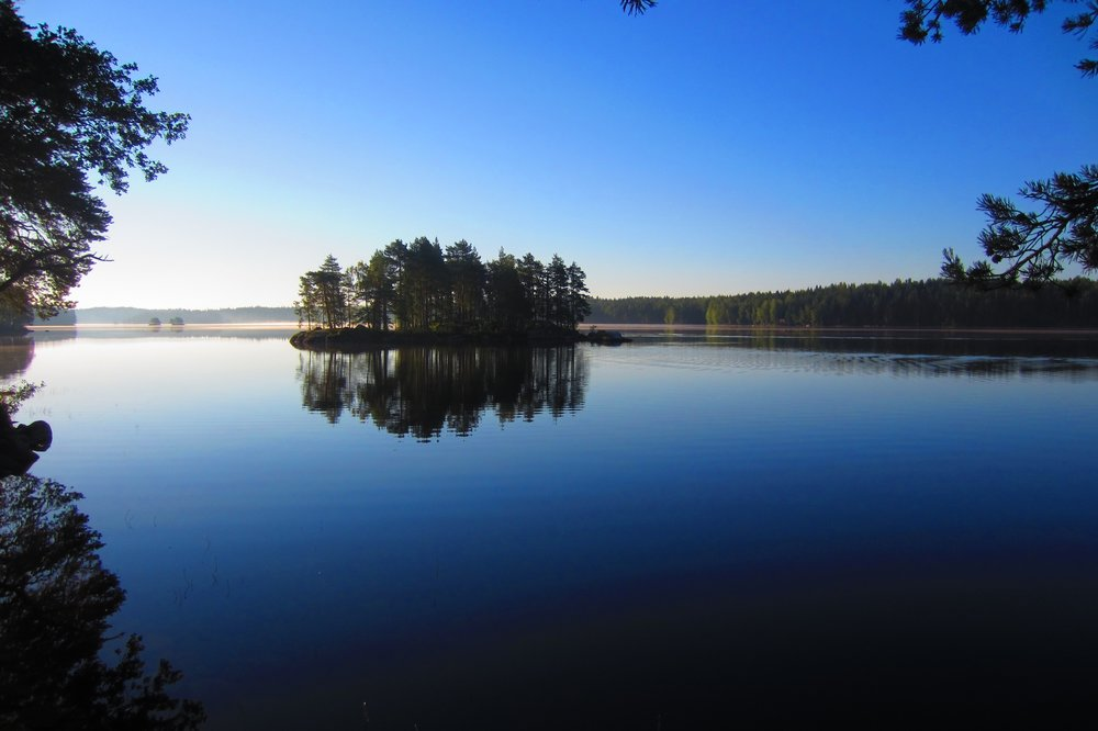 Beautiful morning nature trips Finland