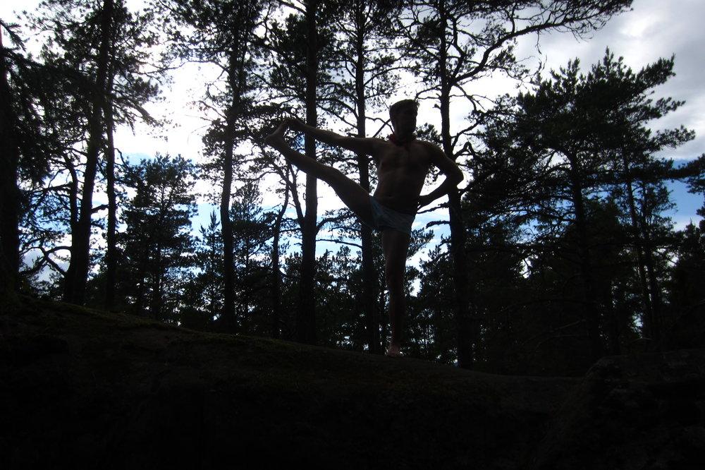 Forest yoga in Helsinki