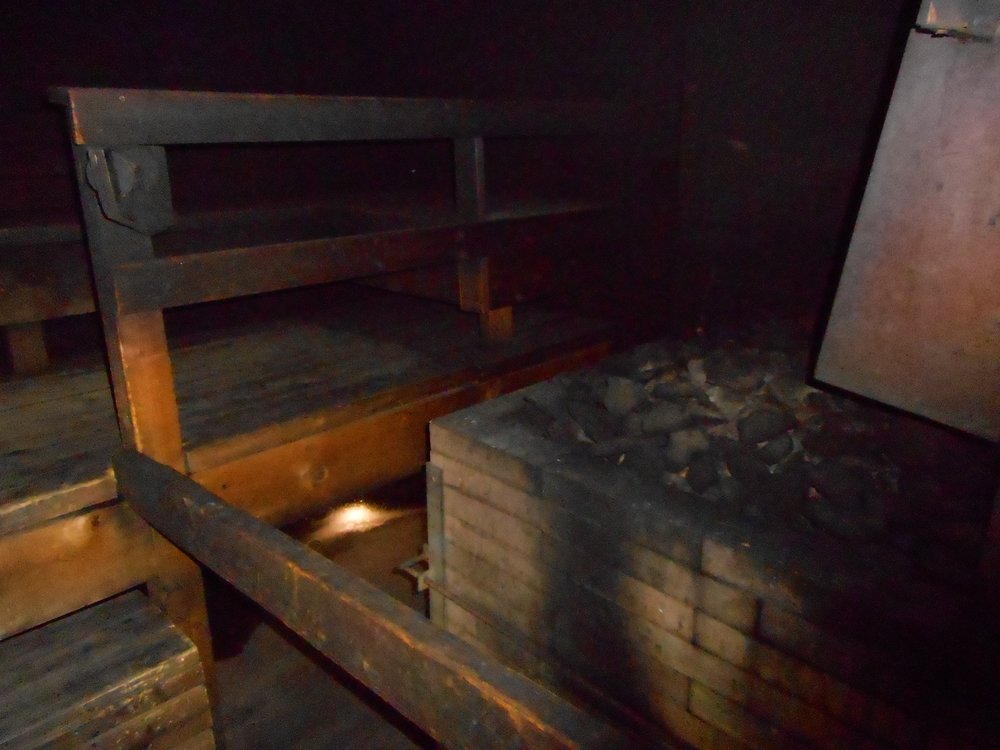 Traditional Finnish sauna at Kuusijärvi .
