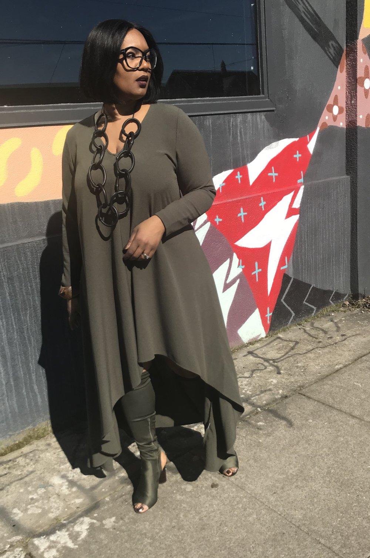 High Low Dress - Monif Chttps://monifc.com/dresses/roya-high-low-dress-military-7141.html