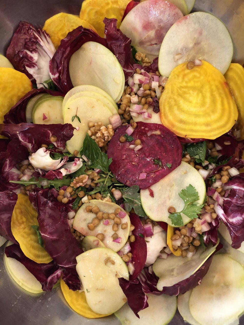 Puy Lentil, Beet, and Apple Salad