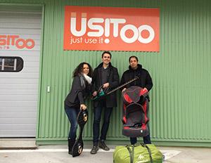 """Drie grote talenten, Benoît, Sahid en Delphine, hebben de grote Usitoo-familie vervoegd om uw service te """"fine-tunen"""""""