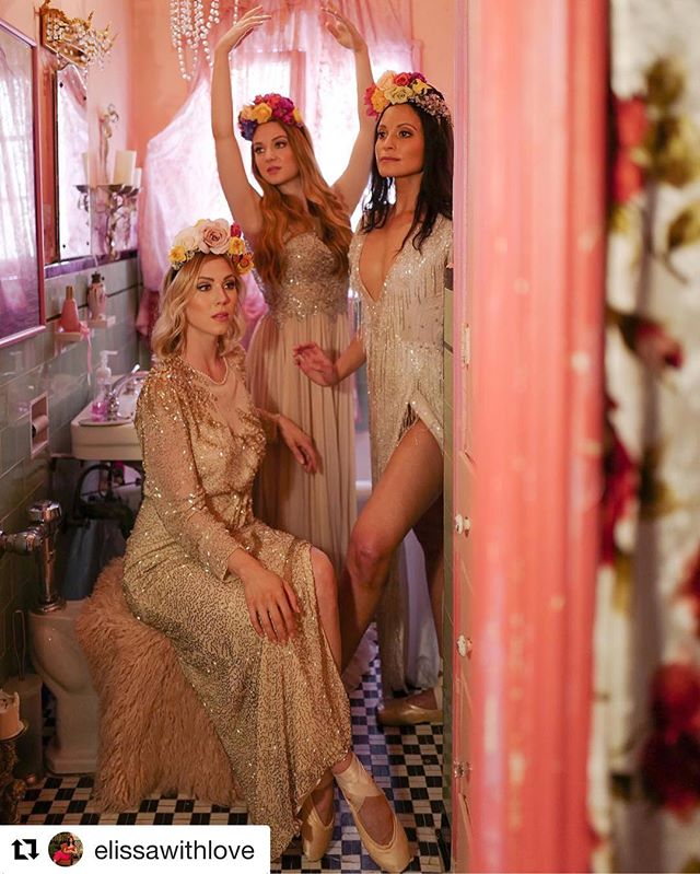 The Graces wearing @elissawithlove 's gorgeous flower headdresses @eastdarjeeling 🌸🌷🌺💜 . . . #thegraces #eastdarjeeling #ragdollpalace #ballerinas #eventplanning #balletdancer #eventprofs #glam #models #luxe #floraldesign #flowercrown