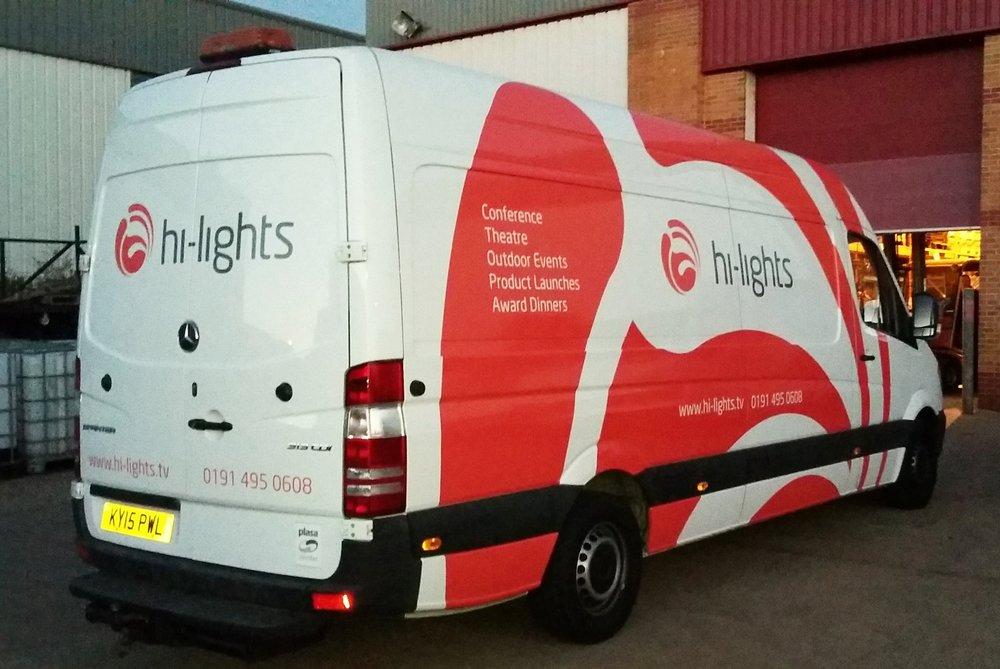 HI-LIGHTS VAN   Print and cut van decals.