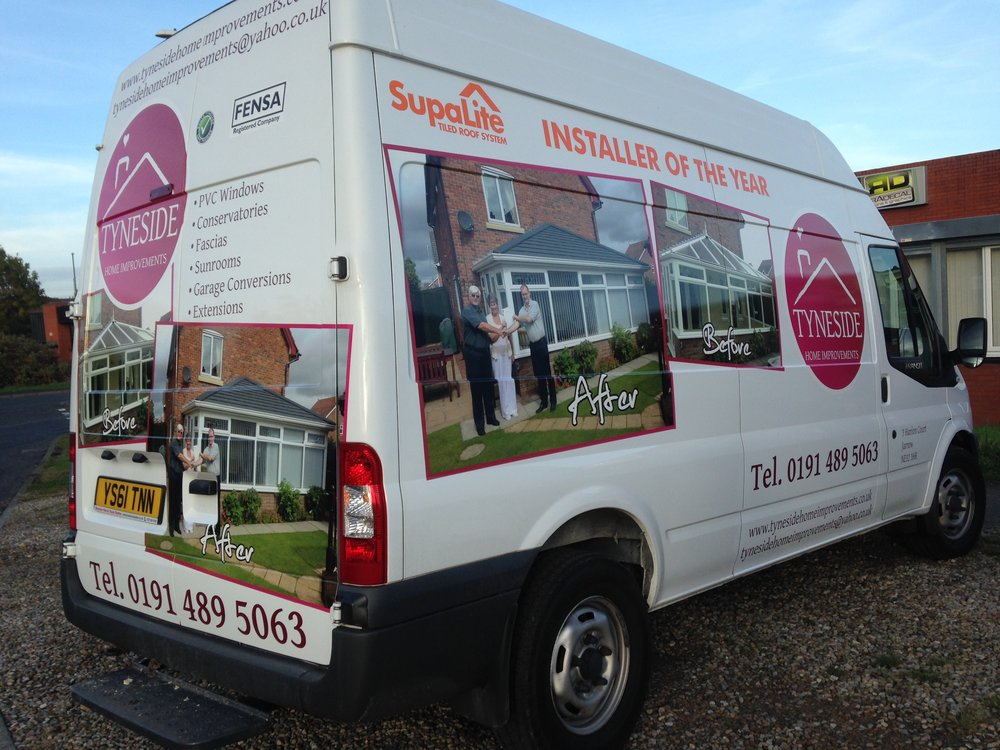 TYNESIDE HOME IMPROVEMENTS   Custom vehicle graphics.