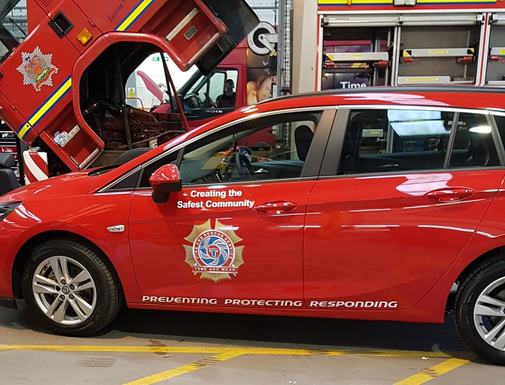 fire brigade car graphics