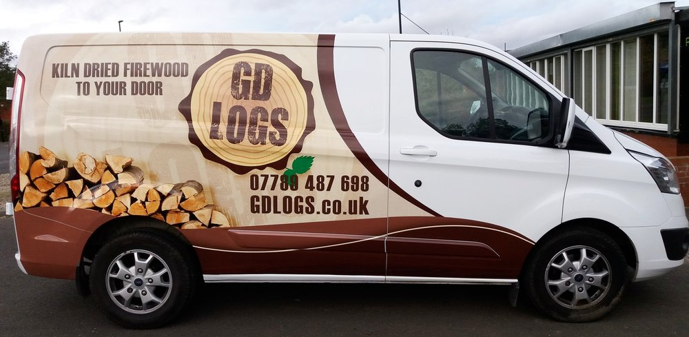 GD LOGS   A highly detailed 3/4 vehicle wrap for GD Logs! Another happy customer.