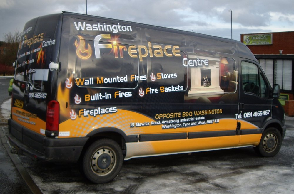 WASHINGTON FIREPLACE CENTRE   Full van wrap.