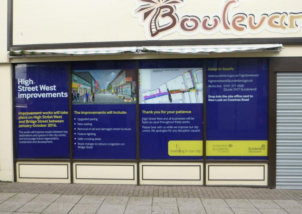 SUNDERLAND CITY COUNCIL.   Digitally printed window graphics.