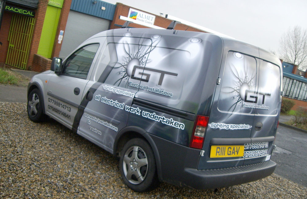 GT ELECTRICAL   Quarter van wrap.