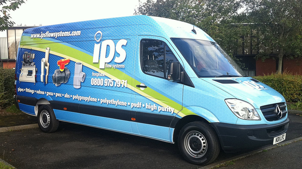 IPS FLOW SYSTEMS   Full van wrap.