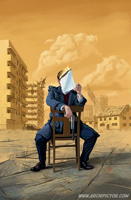 Kuka on Conrad Hirst?, kuvittaja / illustrator Ossi Hiekkala