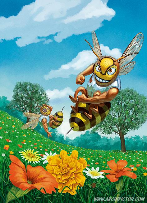 Hornet, kuvittaja / illustrator Ossi Hiekkala