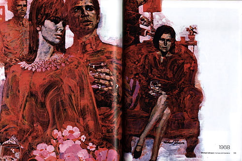Lifestyle illustrations of the 60s