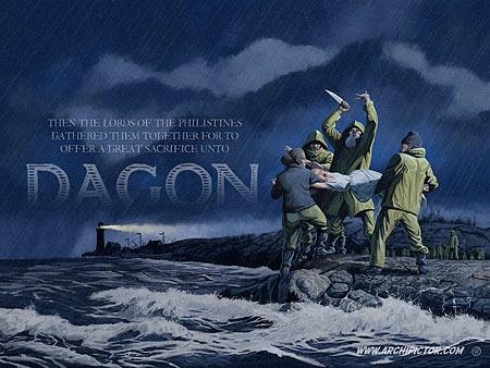 Dagon, kuvittaja / illustrator Ossi Hiekkala