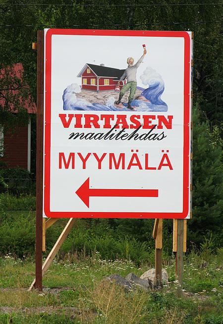 Virtasen maalitehdas, kuvittaja / illustrator Ossi Hiekkala