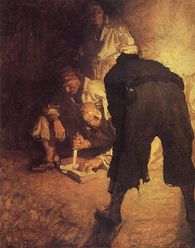 """The Black Spot"" by N.C. Wyeth / An American Vision: Three Generations of Wyeth Art"