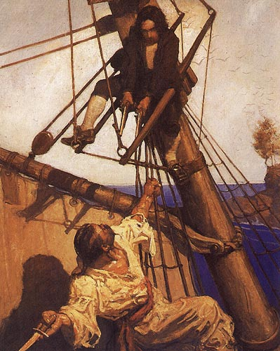"""Israel Hands"" by N.C. Wyeth / An American Vision: Three Generations of Wyeth Art"