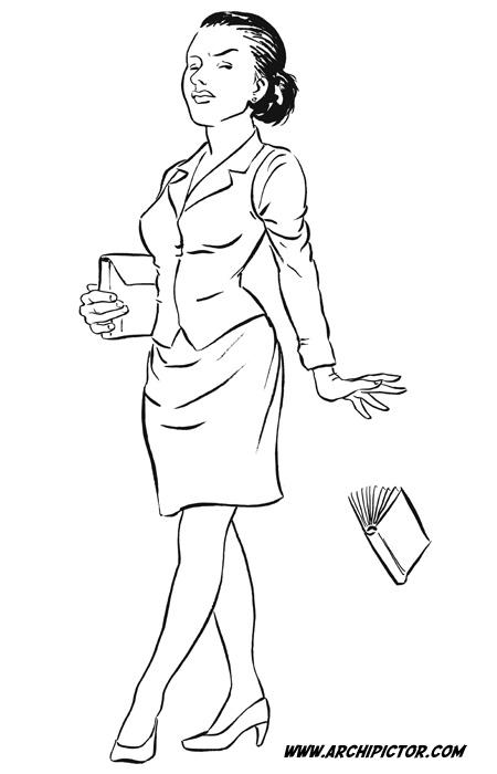 Librarian 2, kuvittaja / illustrator Ossi Hiekkala 2010