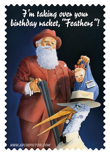Joulukortti 2010, kuvittaja / illustrator Ossi Hiekkala 2010